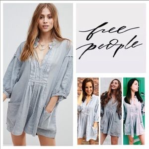 Free people Tomboy linen romper Large NWOT